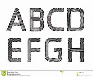 tire tracks font stock vector image of alphabet With track lettering
