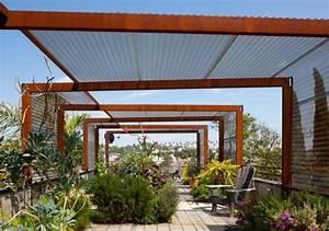 Pergola Metall Terrasse : pergola aus metall 40 inspirierende beispiele und ideen garten pergola aus metall ~ Sanjose-hotels-ca.com Haus und Dekorationen