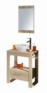 ensemble bloc en 70 salle de bain acacia With meuble salle de bain acacia