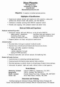resume sample receptionist or medical assistant With how to write a resume for medical assistant