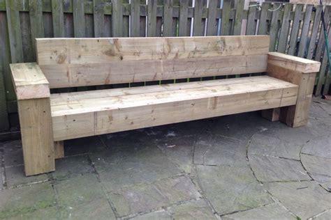 Seat Sleeper by 9ft Railway Sleeper Bench And Garden Seat