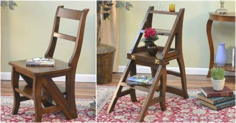 how to build a cool folding ladder chair how to