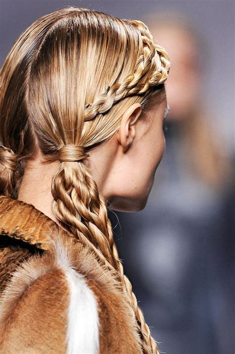 Viking Braids: I love this elaborate hairstyle, only for a