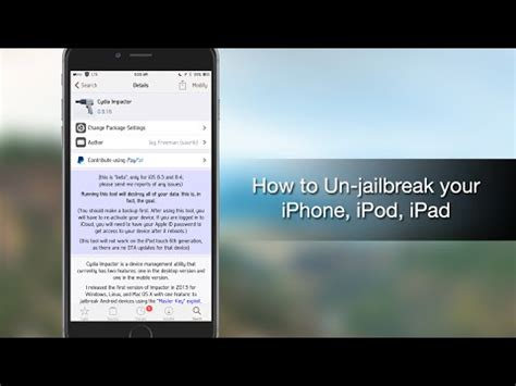 how to unjailbreak iphone without computer how to root almost any android device with cydia impactor
