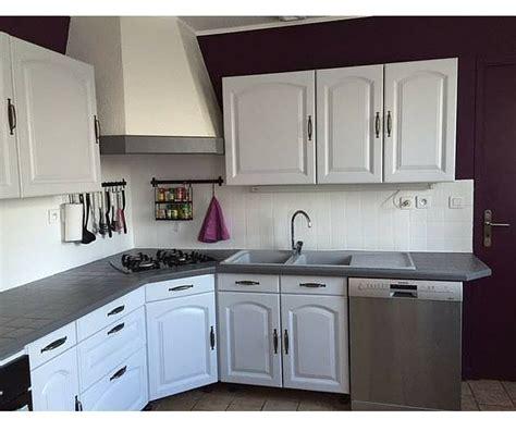 cuisine relookee grise satinelle craie sur les meubles et gris anthracite