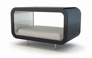 Panier Pour Chien Design : canap lit en bois laqu pour chien et chat suite ~ Teatrodelosmanantiales.com Idées de Décoration