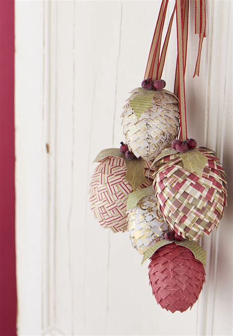 christmas paper pine cone decorations