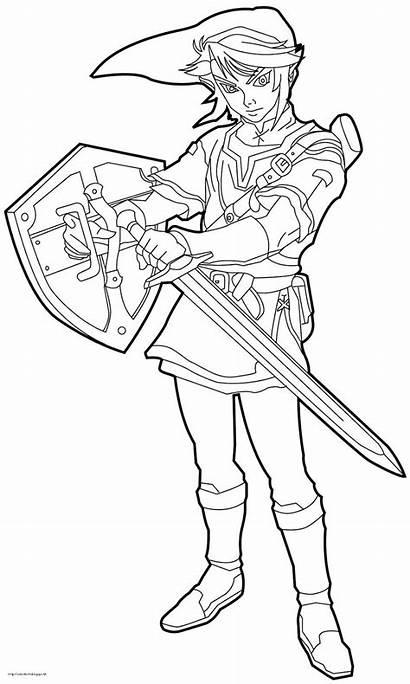 Coloring Zelda Da Link Pages Colorare Printable