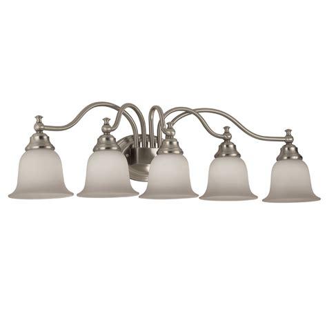 bathroom ceiling light fixtures amazon shop portfolio 5 light brushed nickel vanity
