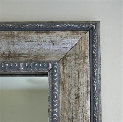 mirrormate frame  grandezza aged silver mirror makeover