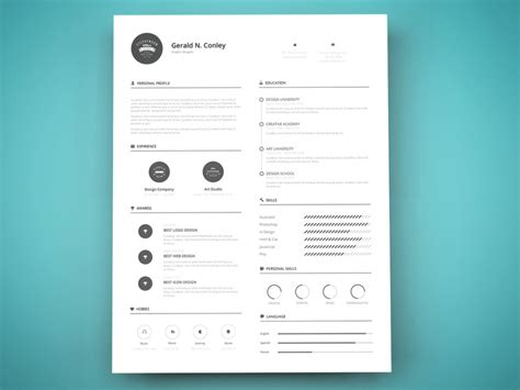 Graphic Design Resume Templates Psd by 35 Best Free Resume Design Templates Themecot
