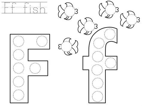 do a dot letter f printable 171 funnycrafts