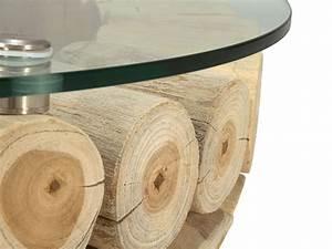 Table De Salon Originale : table basse en bois flotte ronde ~ Preciouscoupons.com Idées de Décoration