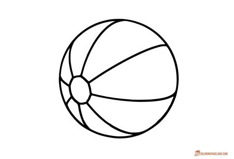beach ball coloring page coloring pages  kids