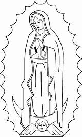 Guadalupe Coloring Lady Catholic Pages Onlycoloringpages Mary sketch template
