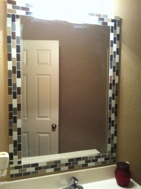 tile mirror frames ideas  pinterest tile