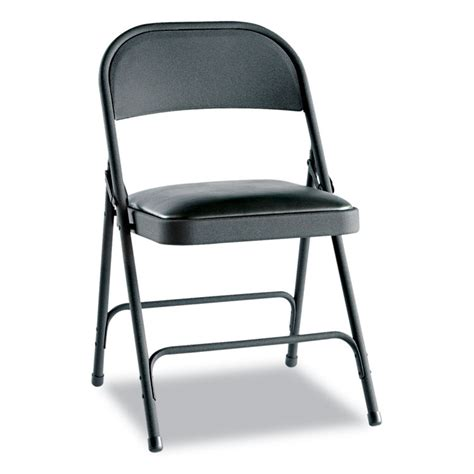 alera 174 steel folding chair with two brace support padded