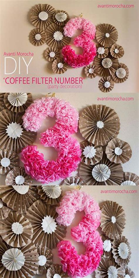 number decorations 30 creatively pink diy room decor ideas