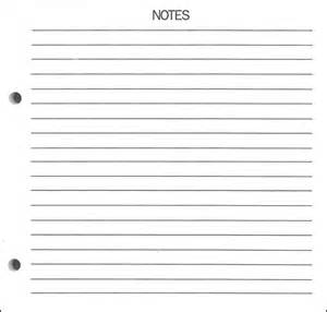 printable blank notes template calendar template 2016