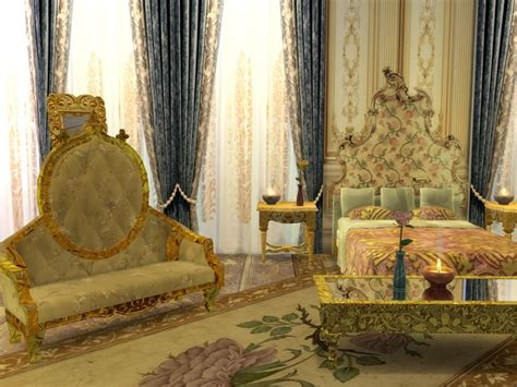 bedroom  sims    royal furniture sims  sims