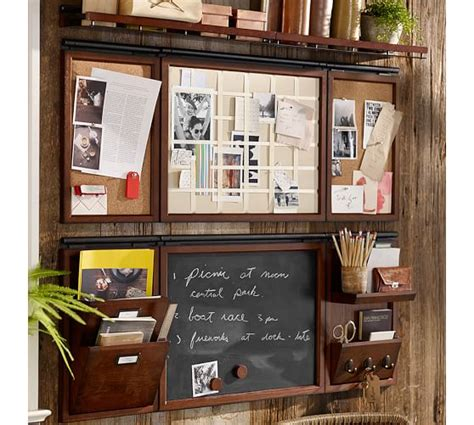 office wall organization daily system home office set set of 6 pottery barn 23971