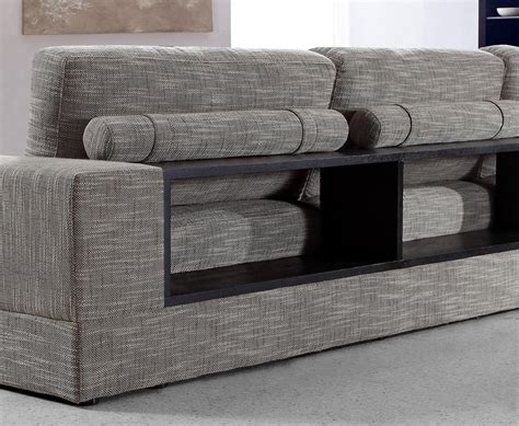 anthem greybrown fabric modern sectional  wood