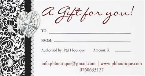 ph boutique gift certificates ph menlyn mall