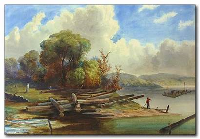 Lawrence St River Near Belleville Painting Paintings