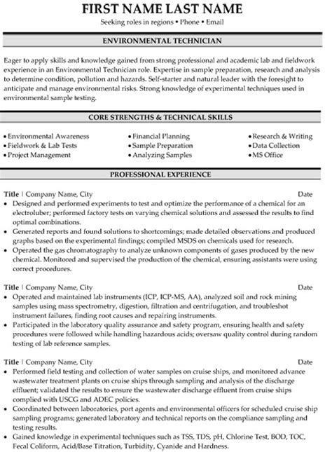 top environment resume templates sles