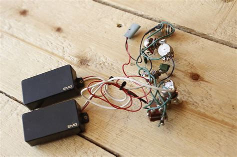 Emg Active Humbuckers Pickups Harness Pots Wiring