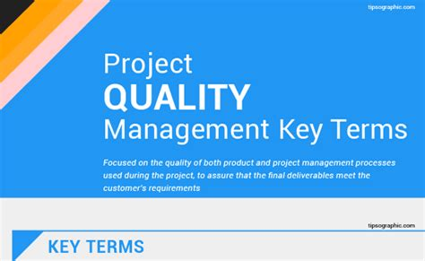 pmp certification project quality management terms