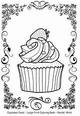 Coloring Pdf Feast Seniors Cupcakes Print Sample Impaired Visually Mintz Rachel sketch template
