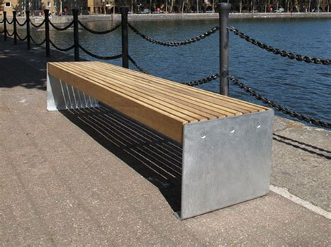 elements plate  benches  seats timber  steel