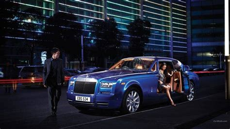 Car, Rolls Royce Phantom, Blue Cars Wallpapers Hd