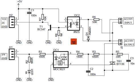 ac light dimmer module circuit  zc detector