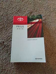 2016 Toyota Prius Owners Manual Used Condition