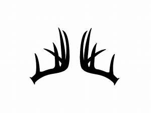 Whitetail Deer Antlers Silhouette