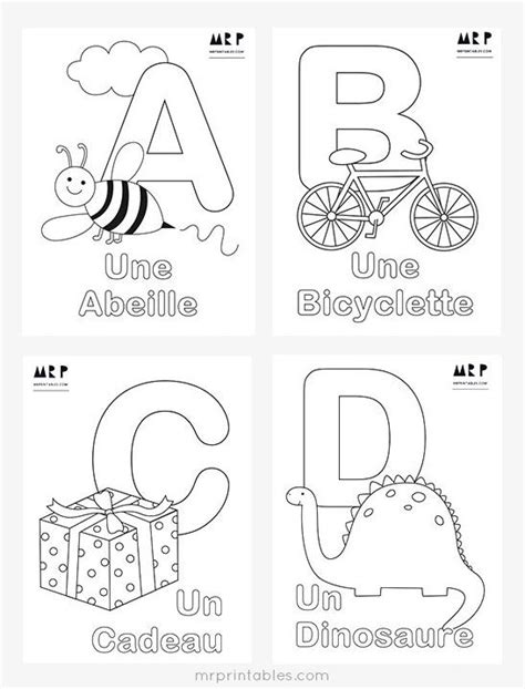 french alphabet coloring pages  printables french
