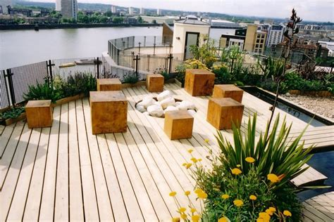 outdoor attractive terrace garden design  beautifying limited outdoor space roof terrace