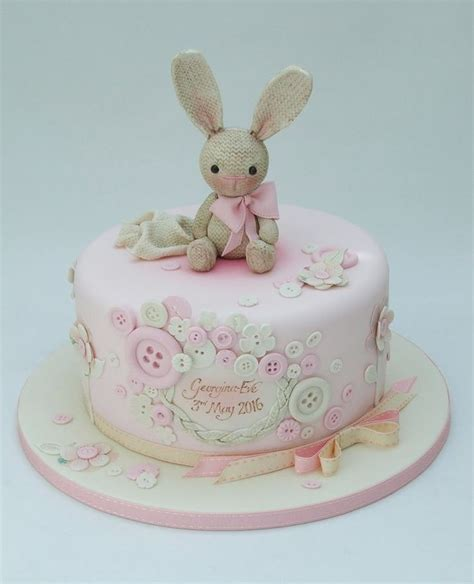 christening cake girls ideas  pinterest baby