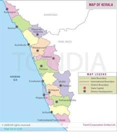 Kerala Map, Map of Kerala India