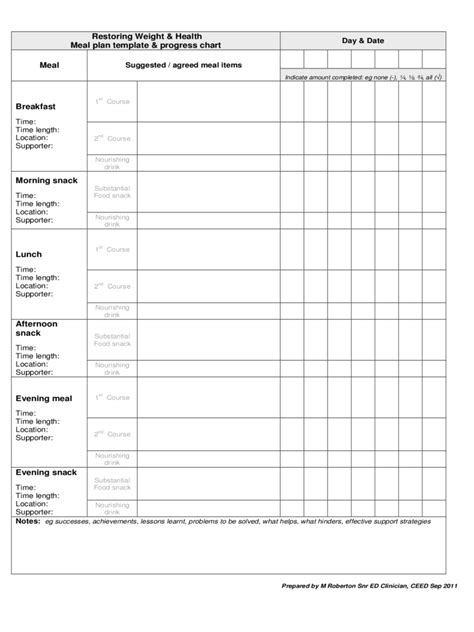 meal planner template   templates   word