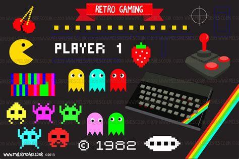 retro gaming illustrations creative market