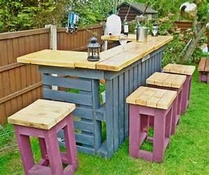 les 25 meilleures idees concernant bar en bois de palettes With bar de jardin en bois