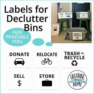 Labels For Declutter Bins