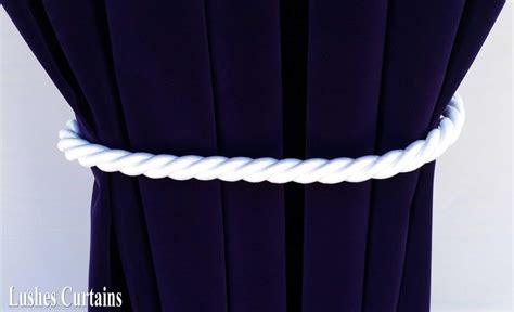 large white window decor curtain drape 36 quot thick rope