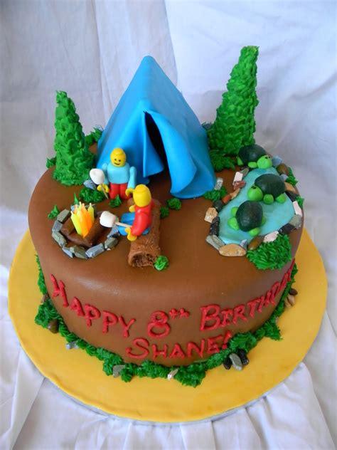 jesicakes camping  legos cake