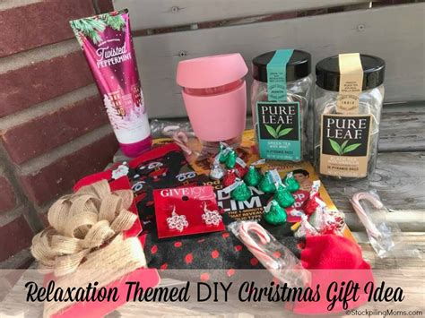 relaxation themed diy christmas gift idea alternative to