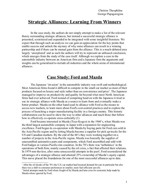 mazda ford case study international business essay