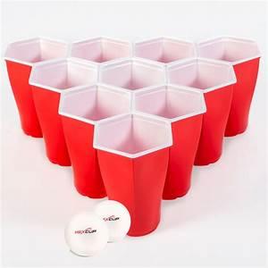Hexcup Beer Pong Cup Set » Petagadget